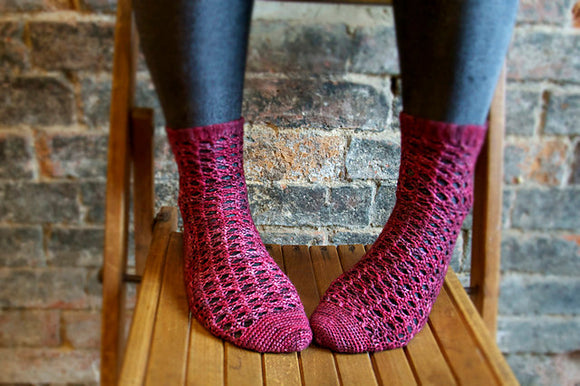 Crochet Pattern - Mulled Wine Socks
