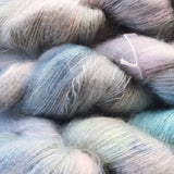 Moonshine  - Hand dyed - lace weight yarn - 50g/420m - kid mohair - silk
