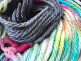 Throw Shapes - Hand dyed Chunky Weight Yarn 100g/100m - superwash merino