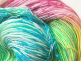 Rainbow Ice - Hand dyed 4ply/sock yarn 100g/425m superwash merino, nylon blend