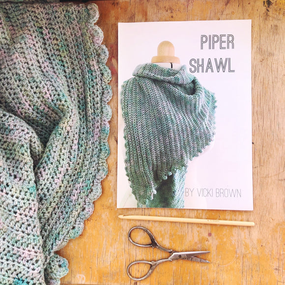 Crochet Pattern - Piper Shawl - PRINT
