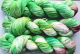 Grinch - Hand dyed - 4ply/sock yarn - 100g/400m - superwash merino - nylon - sparkle