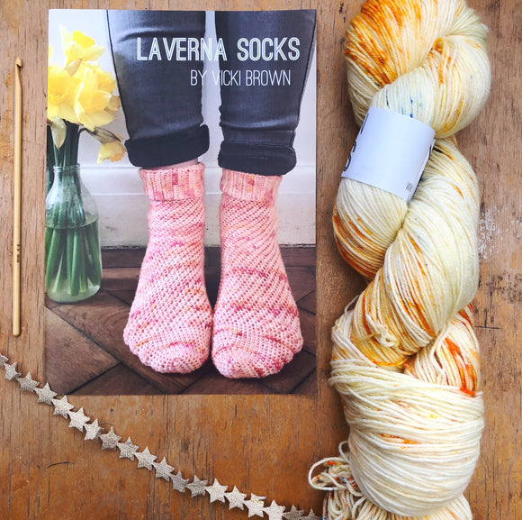 Crochet Pattern - Laverna Socks - PRINT copy