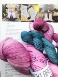 Magnolia - Magdalen Socks Kit - Hand dyed 4ply/sock yarn superwash merino, nylon blend
