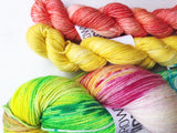Rainbow Ice - Magdalen Socks Kit - Hand dyed 4ply/sock yarn superwash merino, nylon blend