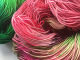 Watermelons - Hand dyed 4ply/sock yarn 100g/425m superwash merino, nylon blend
