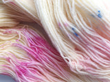SALE - Fluttershy - Hand dyed 4ply/sock yarn 100g/400m superwash merino, bamboo blend