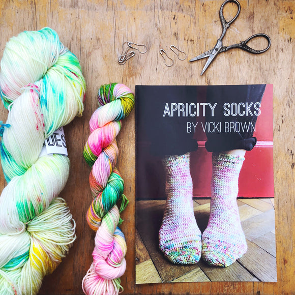 Crochet Pattern - Apricity Socks - PRINT copy