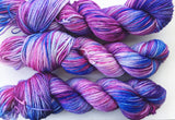 Blueberries - Hand dyed DK yarn 100g/225M superwash merino