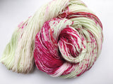 Apple Blossom - Hand dyed 4ply/sock yarn 100g/425m superwash merino, nylon blend