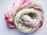Apple Blossom - Hand dyed DK yarn 100g/225M superwash merino