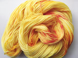 Orange Pop - Hand dyed DK yarn 100g/225M superwash merino