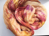 Orange Crush - Hand dyed lace yarn 100g/1200m extra fine merino, silk blend