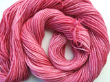 Cranberries - Hand dyed 4ply/sock yarn 20g/85m superwash merino, nylon blend