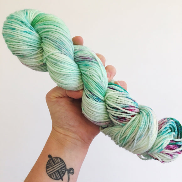 Succulents - Hand dyed DK yarn 100g/225M superwash merino