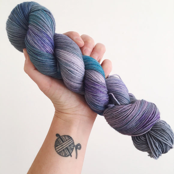 Princess Luna - Hand dyed 4ply/sock yarn 100g/425m superwash merino, nylon blend