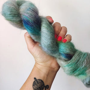 Best Mates  - Hand dyed - lace weight yarn - 50g/420m - kid mohair - silk