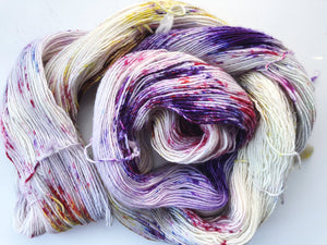 Heather - Hand dyed 4ply/sock yarn 100g/366m superwash merino singles