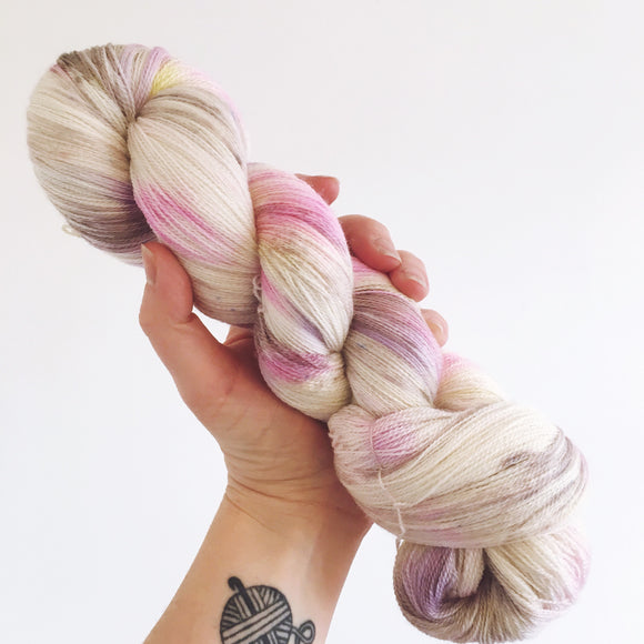 Mini Eggs - Hand dyed lace yarn 100g/1200m extra fine merino, silk blend