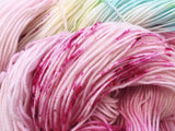 Pinkie Pie - Hand dyed - 4ply/sock yarn - 100g/400m - superwash merino - nylon - sparkle