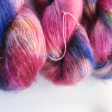 Sunset Beach  - Hand dyed - lace weight yarn - 50g/420m - kid mohair - silk