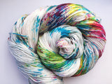 Stormclouds and Rainbows - Hand dyed - 4ply/sock yarn - 100g/400m - superwash merino - nylon - sparkle