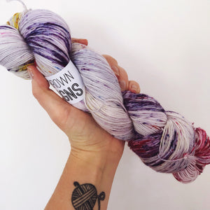 Heather - Hand dyed 4ply/sock yarn 100g/425m superwash merino, nylon blend