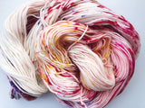 English Rose - Hand dyed DK yarn 100g/225M superwash merino