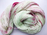 Apple Blossom - Hand dyed - 4ply/sock yarn - 100g/400m - superwash merino - nylon - sparkle