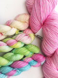 Blossom - Skimming Stones Pack - Hand dyed 4ply/sock yarn superwash merino, nylon blend