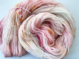 English Rose - Hand dyed 4ply/sock yarn 100g/425m superwash merino, nylon blend