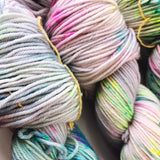 Storms and Rainbows  - Hand dyed DK yarn 100g/225M superwash merino