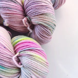 Barbie  - Hand dyed DK yarn 100g/225M superwash merino