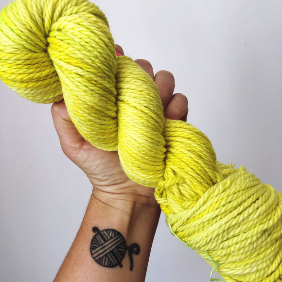 Echinocactus - Hand dyed Chunky Weight Yarn 100g/100m - superwash merino