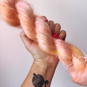 Muscula  - Hand dyed - lace weight yarn - 50g/420m - kid mohair - silk