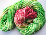 Grinch - Hand dyed Chunky Weight Yarn 100g/100m - superwash merino