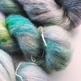 Storms and Rainbows  - Hand dyed - lace weight yarn - 50g/420m - kid mohair - silk