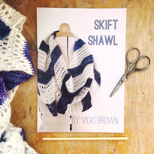 Crochet Pattern - Skift Shawl - PRINT