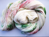 Satin Baubles - Hand dyed - 4ply/sock yarn - 100g/400m - superwash merino - nylon - sparkle