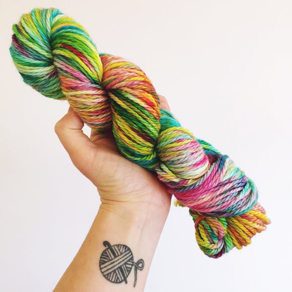 Hendricks - Hand dyed Chunky Weight Yarn 100g/100m - superwash merino