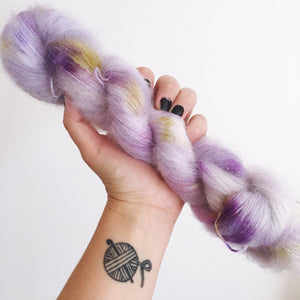 Wisteria - Hand dyed - lace weight yarn - 50g/420m - kid mohair - silk