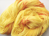 Orange Pop - Hand dyed 4ply/sock yarn 100g/425m superwash merino, nylon blend