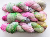 Pickleberry- Hand dyed 4ply/sock yarn 100g/425m superwash merino, nylon blend