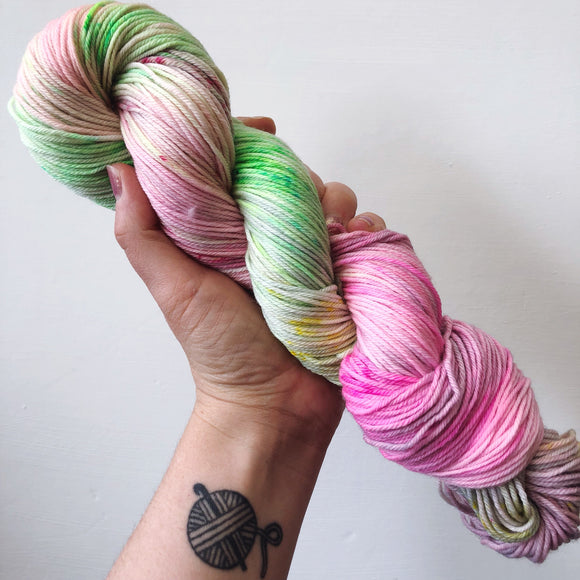 Pickleberry - Hand dyed DK yarn 100g/225M superwash merino