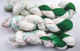 Peppermint Bark - Green - Hand dyed 4ply/sock yarn 100g/425m superwash merino, nylon blend