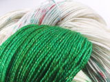 Peppermint Bark - Green - Hand dyed - 4ply/sock yarn - 100g/400m - superwash merino - nylon - sparkle