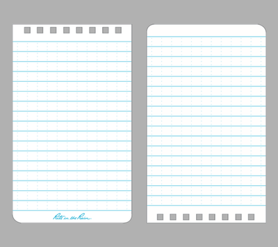 "mikeroweWORKS 3.25"" x 4.5""  All Weather Side Stapled Notebook"