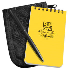 Notebook, Pen and Cover Kit - Black