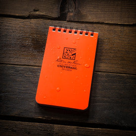 "3"" x 5"" All Weather Top Spiral Notebook - Blaze Orange"