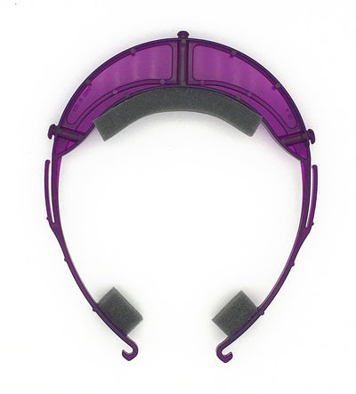 Premium Face Shield with Translucent Purple Plastic Headpiece (Single)